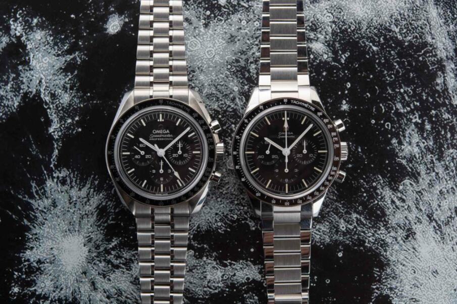 The stainless steel fake watches have black dials.